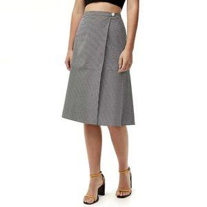 Aritzia Babaton Rosalio Cotton A-Line Wrap Skirt